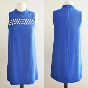 Royal Blue Criss Cross Chest Detail Dress Size S
